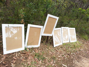 Square White Picture Frames Shabby Chic look Custom Framing at Wombat Frames Australia