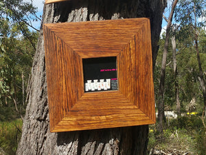 Authentic Australian Eco Friendly Recycled Square Picture Frame made in Brown Gum, All sizes available custom made