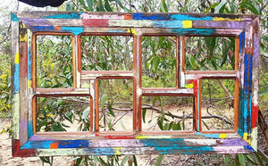 Wombat Happy Frames 8 opening Bright Colours unique Multi-Picture Frames made in Australia