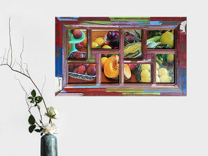 Wombat Happy Frame Fun 8 opening Bright Colours Painted Recycled Timber Multi Picture Frames Australia