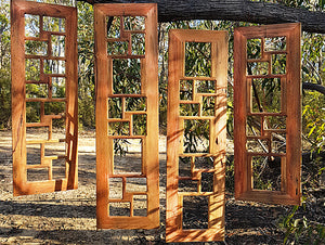 Wooden gallery collage photo frames Australia made with Eco friendly recycled timber