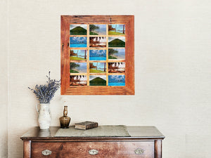 Large Collage Picture Frame for 15 photos on an Easel Stand