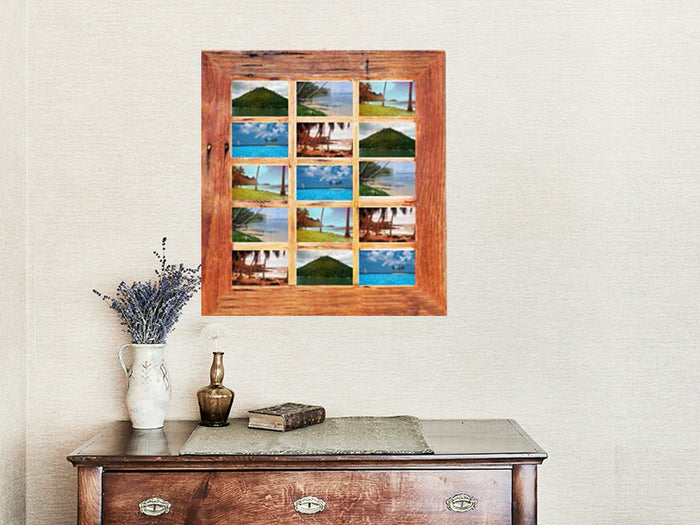 15 Photo Multi Photo Collage Frame in Rustic Recycled Australian Timbers