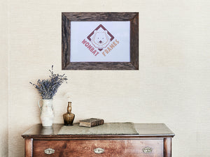 A4 single photo frame 4.5 cm wide in eco friendly recycled timber grey rustic