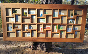 Large Recycled Timber Multi Photo Frame Eco Friendly made in Australia