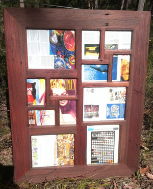 Multi picture frame handmade using Eco Friendly Salvaged Timber at Wombat Frames
