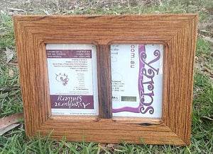 Australian Brown gum 2-opening photo frame handcrafted using Eco Friendly Recycled Timber Australia