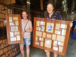Custom Sized Wedding Multi Photo Frames, Multi size photo collage frames made in Eco Friendly Recycled Timber Brown Gum