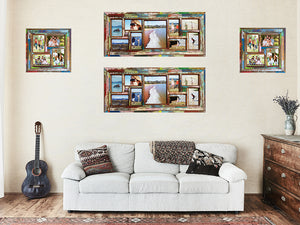 Boho Chic Fun and Funky Home Decor with Wombat Multi Picture Photo Frames
