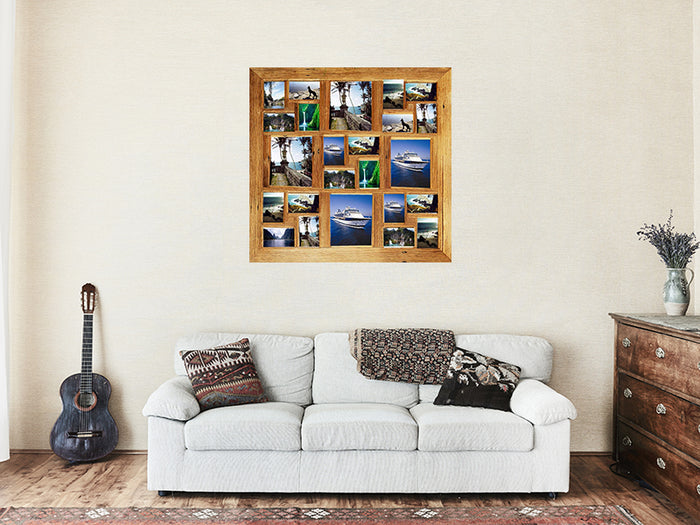 1mx1m Large Square Timber Photo Frame for 24 photographs
