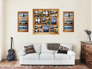 Multi Photo Collage Frames handmade with authentic Recycled Australian Timbers