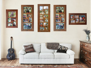 small and medium recycled timber multi photo frame collection Wombat Frames
