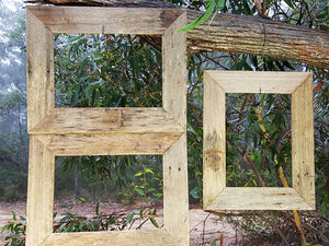 Weathered Rustic Grey Fence look Eco Friendly Recycled Australian Timber A4 Single Photo Frames