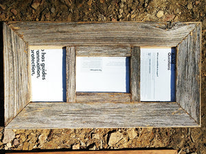 Fence Look Rustic Weathered Grey Rustic Multi Photo Picture Frame Australian made Eco Friendly Recycled Timber