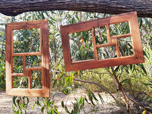 Recycled Australian Timber 5 opening family multi photo picture frame