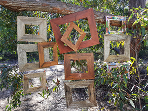 Wombat Frames single picture frames Australian handmade using Eco Friendly Recycled Timbers