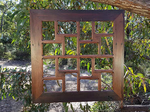 Gorgeous square multi picture frame for 16 wedding photos made in Australian Eco Friendly Recycled Timber