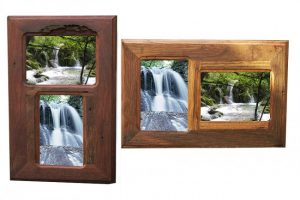 Australian hardwood upcycled 2-opening photo frames handmade