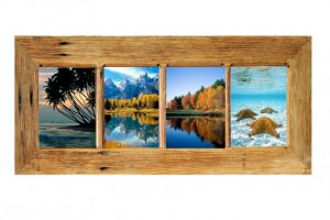 Recycled Timber Australian handcrafted photo frames for 4 images