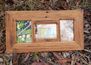 3 opening rustic timber multi picture frame
