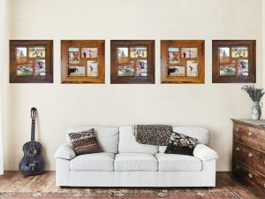 Light-brown-gum-and-dark-brown-gum-natural-colour-variation-in-square-picture-frames-online.