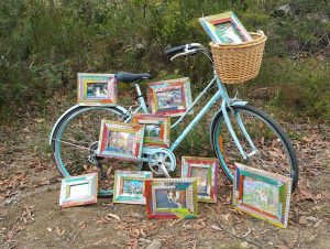 Single Colourful Frames with Bike