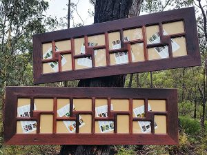 Large recycled red gum Timber multi opening collage frames Australia