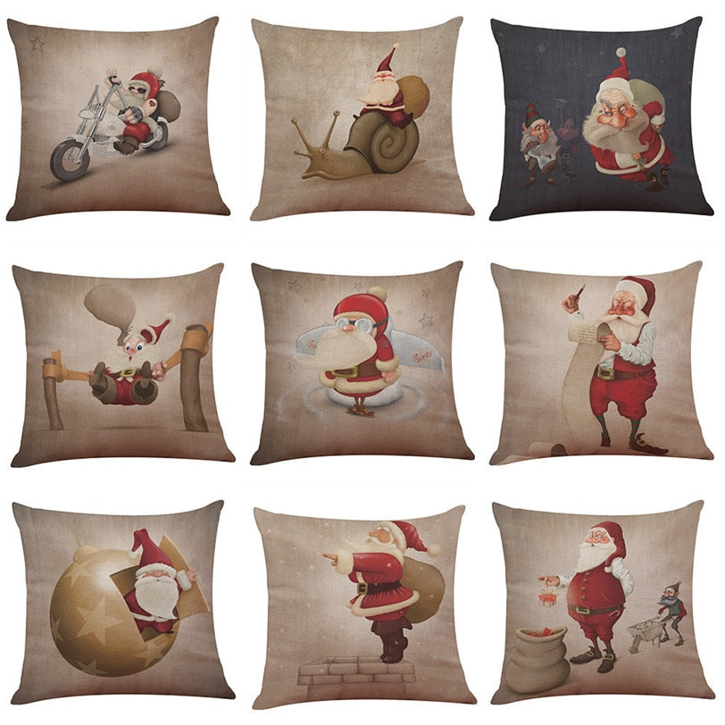 merry christmas decorative pillow case hover to zoom
