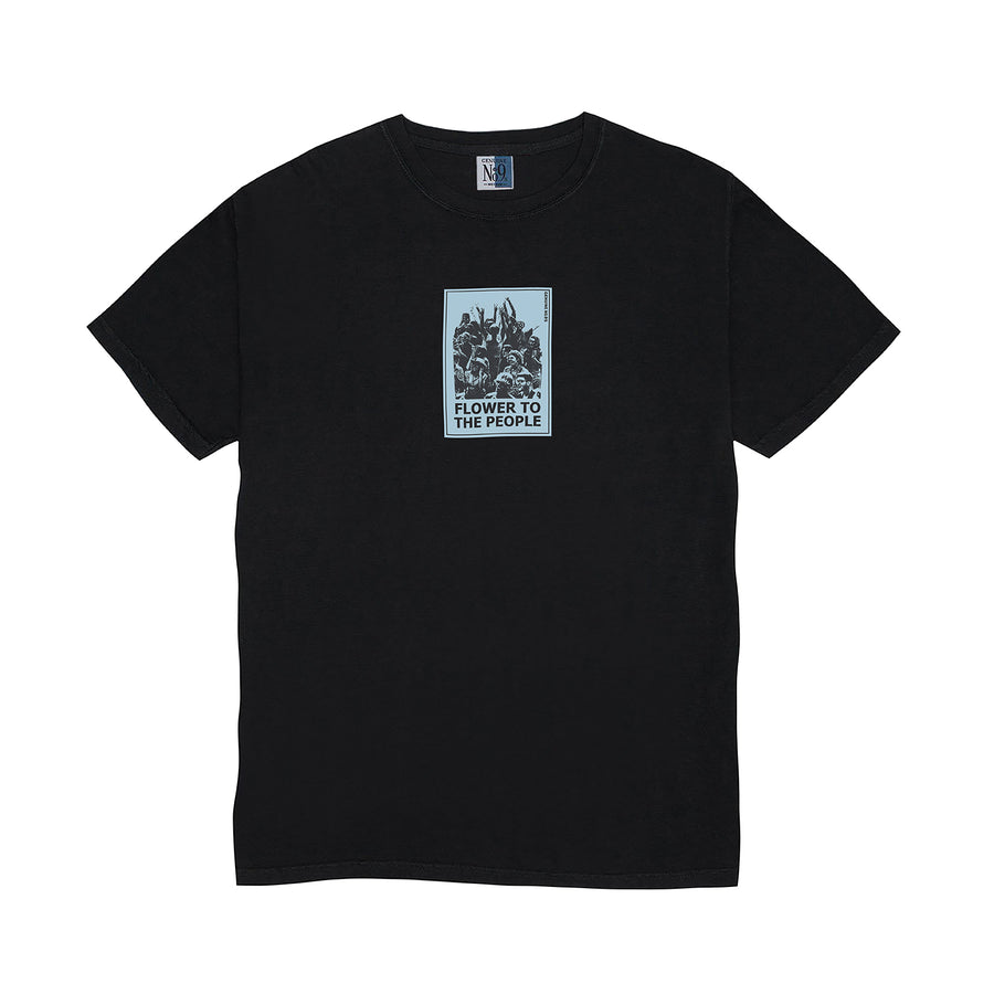 FLOWER T-SHIRT - BLACK