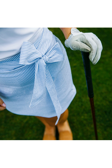Course & Club The Waist Seersucker in Blue - Game Set