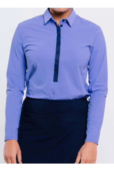 Foray Golf Long Sleeve - Baja Blue - Game Set