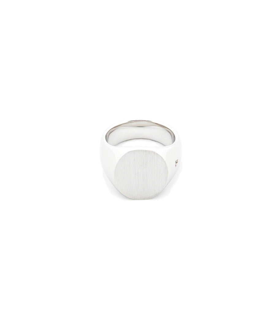 Sølv Tom Wood Jewellery Ring The Oval Satin