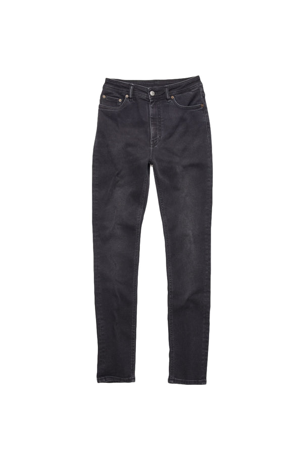 Acne Peg Used Blk Jeans Sort