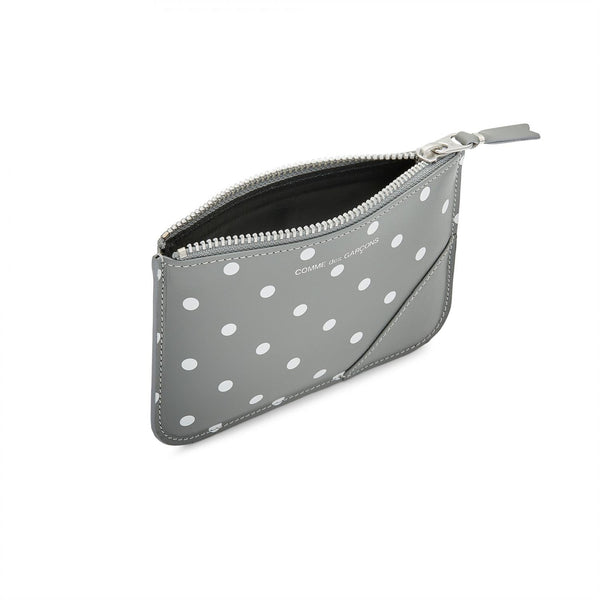 Comme des Garcons Wallet Wallet Dot Leather Lommebok Grå - modostore.no