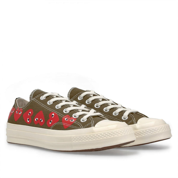 Comme des Garcons Play x Converse CDG CT70 MULTI LOW TOP Sko Grønn - modostore.no