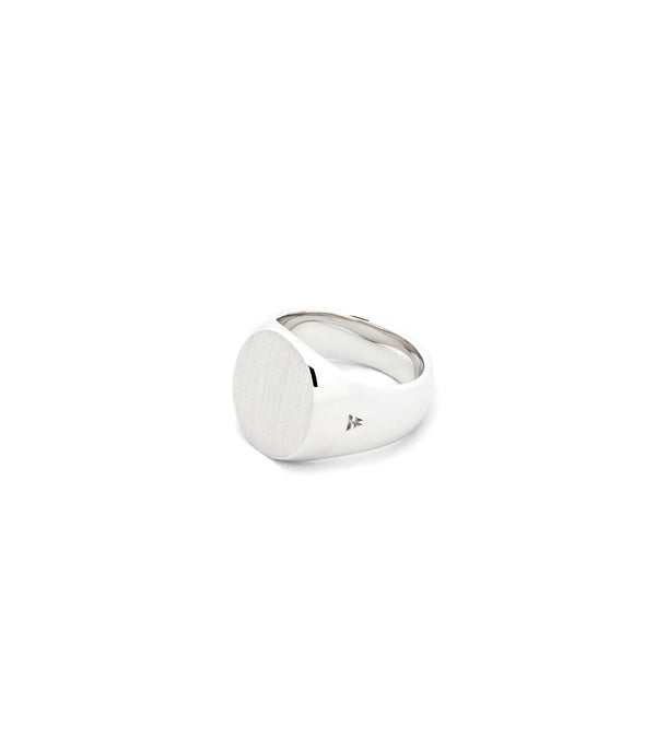 Tom Wood Jewellery The Oval Satin Ring Sølv