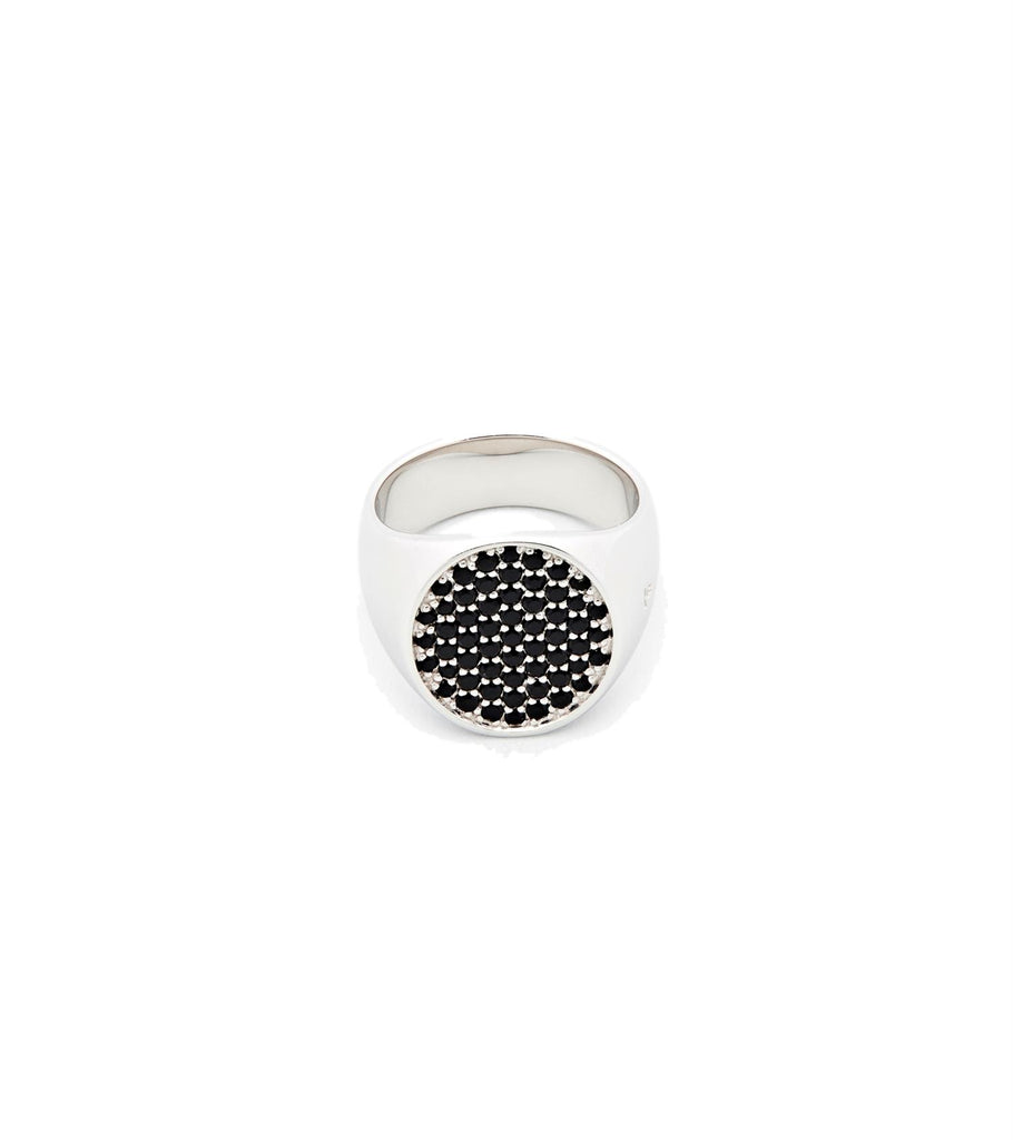 Sølv Tom Wood Jewellery Ring Pinkie Oval Black Spinel