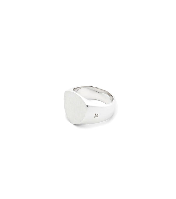 Tom Wood Jewellery The Shield Satin Ring Sølv - modostore.no