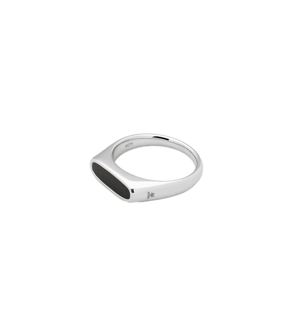 Tom Wood Jewellery Mario Ring Onyx Ring Sølv - modostore.no