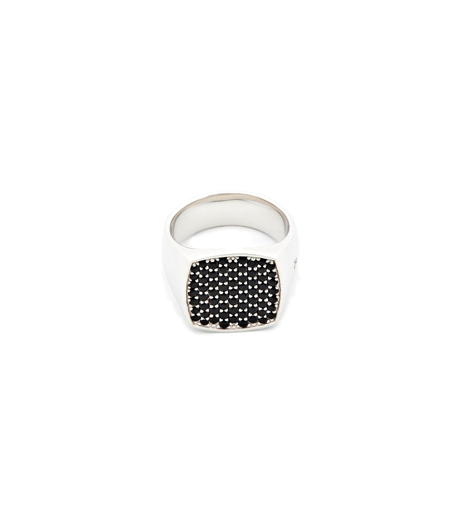 Tom WoodJewellery The Pinkie Cushion Black Spinel