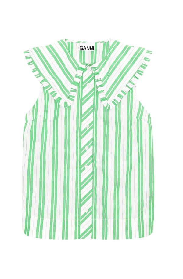 Ganni Sleeveless shirt Skjorte Striper - modostore.no
