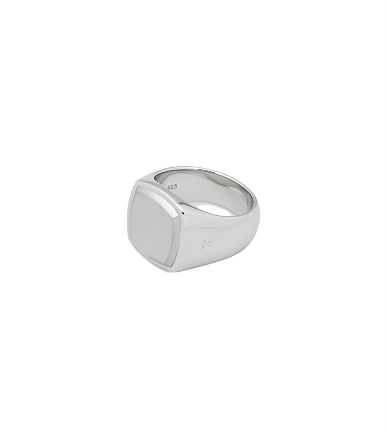 Sølv Tom Wood Jewellery Ring Cushion Silver Top