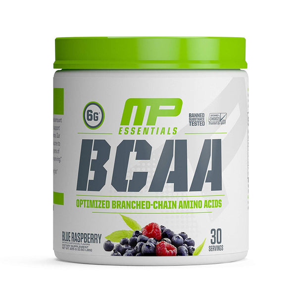 MusclePharm BCAA essential 30 ser 225 gm Blue Raspberry