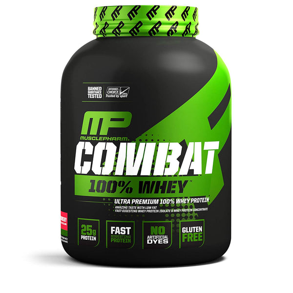 MusclePharm Combat 100% Whey, 5 lb Strawberry