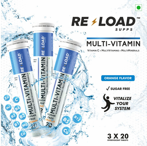 Reload Supps - Multivitamin - Pack of 3