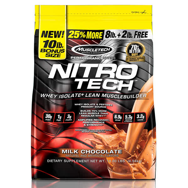 Muscletech Nitrotech Performance Series Whey 10lbs + Free Gallon