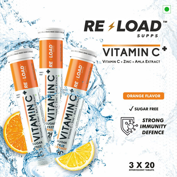 Reload Supps - Vitamin C - Pack of 3