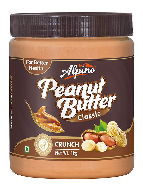 ALPINO CLASSIC CRUNCH PEANUT BUTTER , 1KG (PACK OF 12)