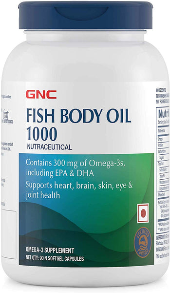 GNC Fish Body Oil 1000MG [90 Capsules]