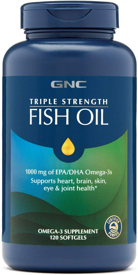 GNC Triple Strength Fish Oil Softgel
